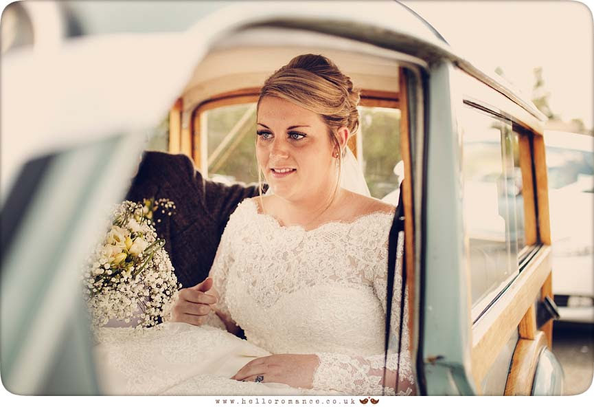 Bride Vintage Car Morris Minor Ipswich Suffolk Wedding Photography Photos