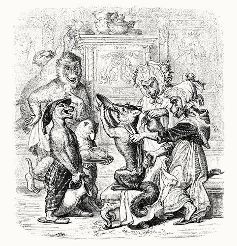 Wilhelm von Kaulbach - Reineke Fuchs, 1857 (Goethe) p44 (coconino)