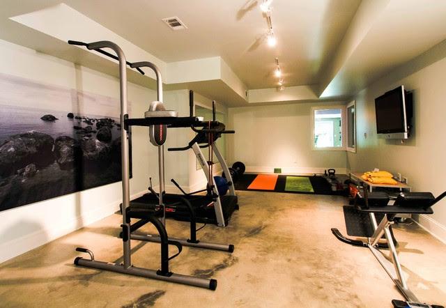 Riverside Basement Renovation - contemporary - home gym - atlanta ...