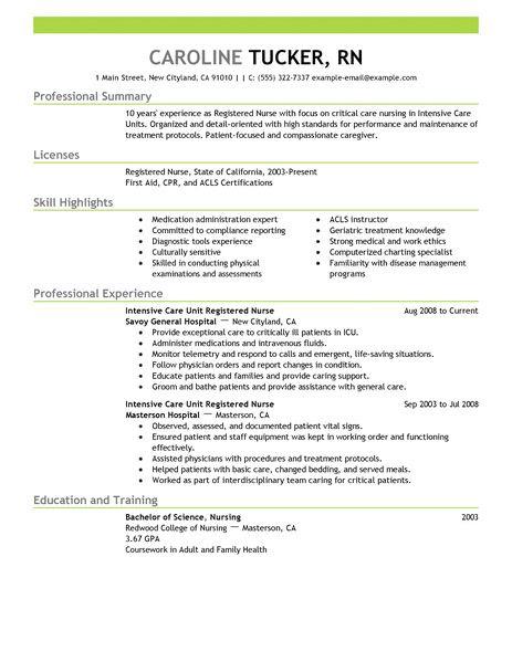 intensive care unit registered nurse healthcare resume example emphasis 2 463x600