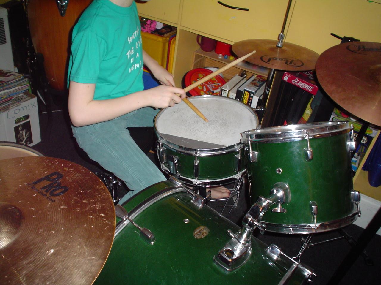 GRETA on the drumsssss