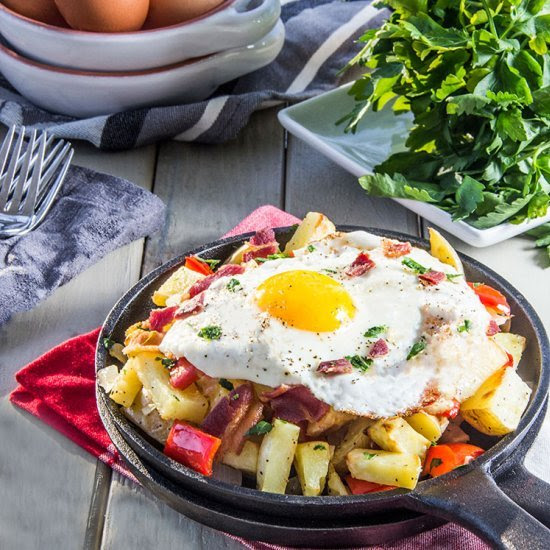 Egg Skillet with Bacon and Potato Follow
