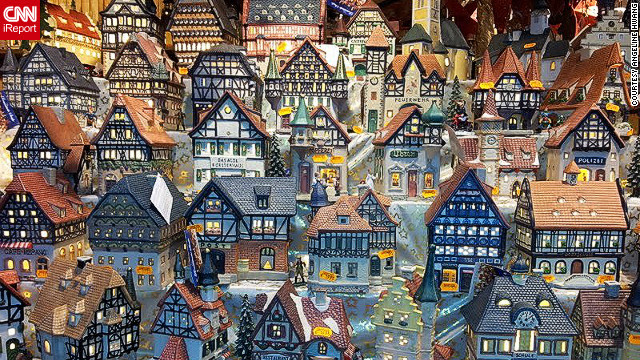 <a href=''>Angeline Hwang</a> took this picture of model cottages at a Christmas market in the German town of Hanau, the birthplace of the Brothers Grimm. German Christmas markets can have many themes, she said, and pop-up throughout the country during the festive months.