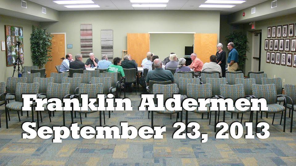 Franklin Aldermen Sept 23rd meeting  Photo and Titles ©2013 Bobby Coggins