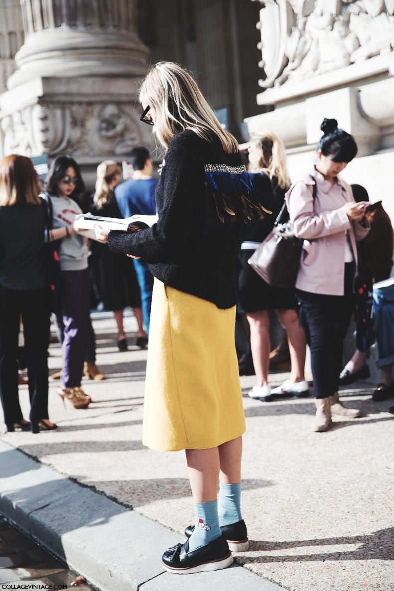 Paris_Fashion_Week_Spring_Summer_15-PFW-Street_Style-Yellow_Skirt-Socks-
