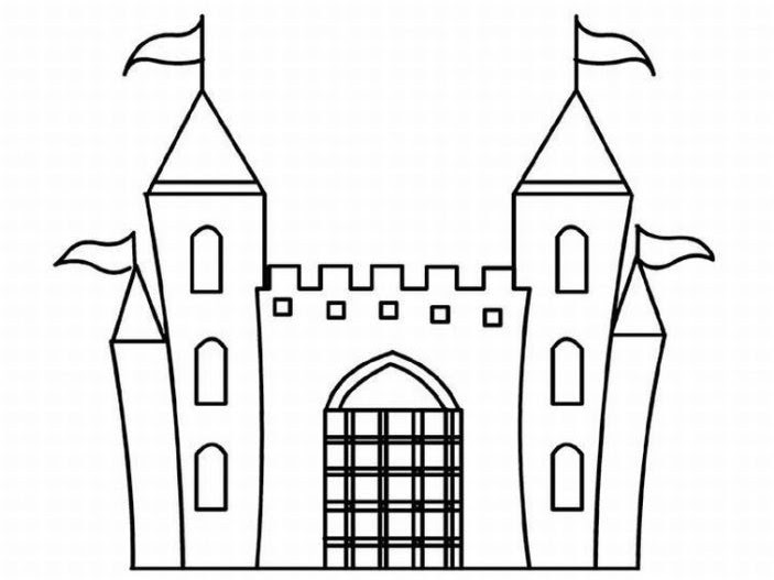 Coloriage Chateau Disney A Imprimer.Top 50 Coloriage A Imprimer Chateau Coloriages A