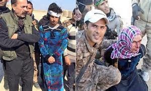 ISIS fighters are caught disguised as WOMEN as they tried