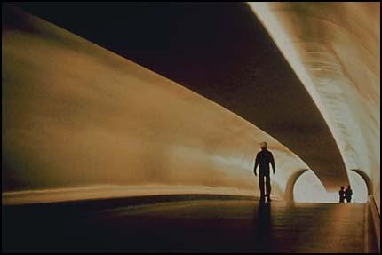Figure in tunnel
