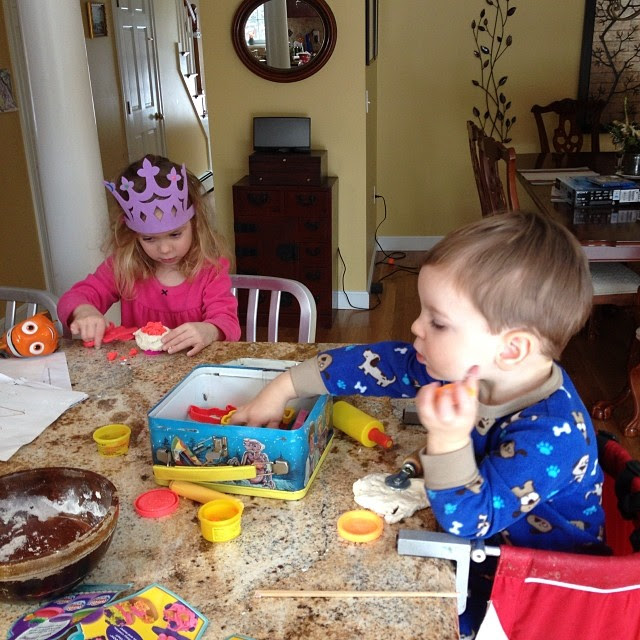 Flour and water and play doh stuff, oh my! #kidcrafts #meandwee #noschool