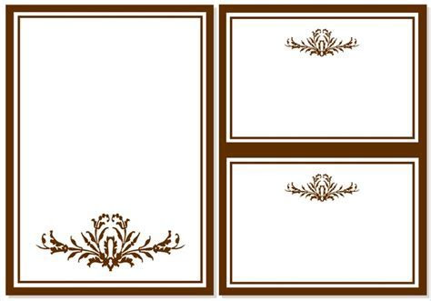 card template : Blank invitation templates free for word