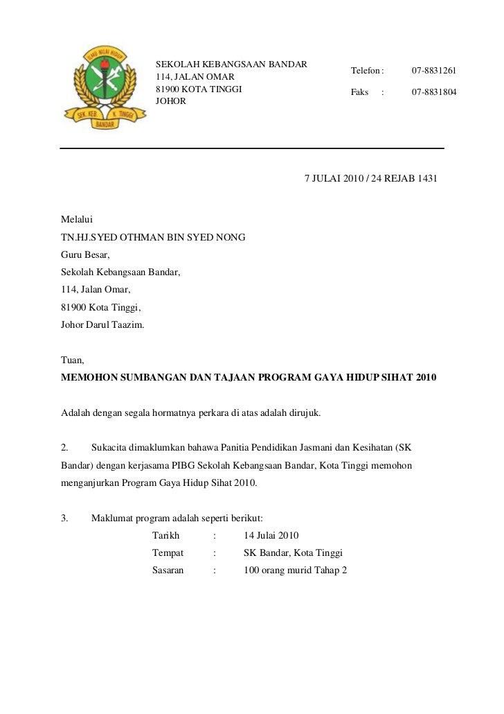 Contoh Surat Rasmi Permohonan - newhairstylesformen2014.com
