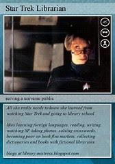 star trek librarian trading card
