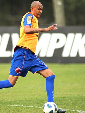 Alex Silva no treino do Flamengo (Foto: Maurício Val / VIPCOMM)