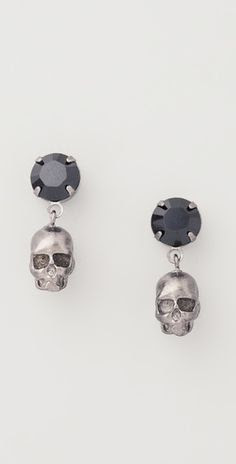 "Tom Binns ""Della Notte"" Crystal  Skull earrings"