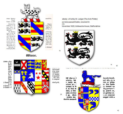 The Heraldry of the Gunpowder Conspirators
