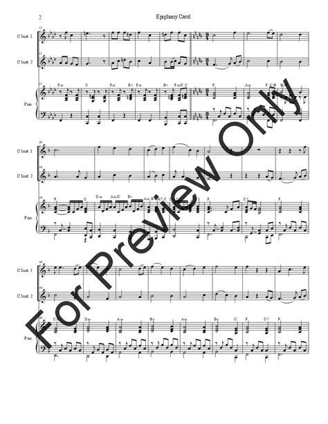 epiphany carol instrumental duet  instruments jw
