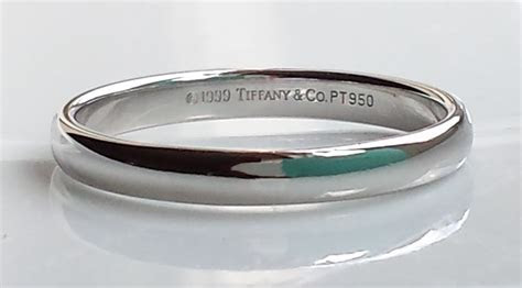Tiffany & Co. Lucida 3mm Platinum Wedding Ring Size U