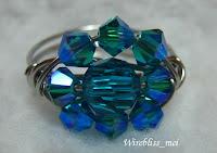 close up of Swarovski Crystal Ring