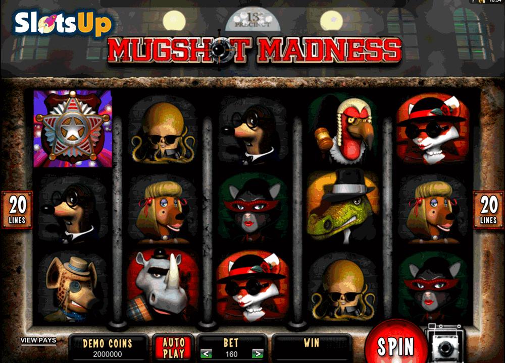 Запускайте игровой автомат Mugshot Madness, вращайте барабаны и собирайте комбинации из преступников.Играйте в онлайн слоты бесплатно и без регистрации.