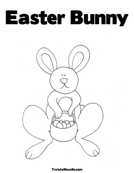 easter bunny coloring book pictures. Easter Bunny 2 Coloring Page