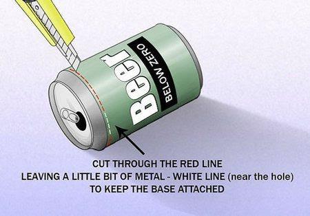 Una lata de cerveza puede usarse para mejorar la señal WiFi