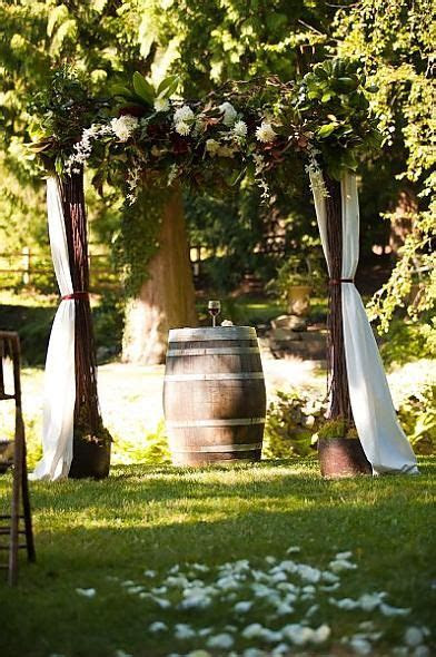 wedding arch at DeLille Oooo if I could only find a wine