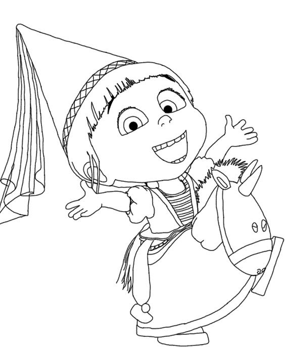 Despicable Me Agnes Coloring Pages At Getcoloringscom Free