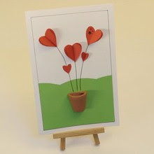3D Hearts Card craft for kids