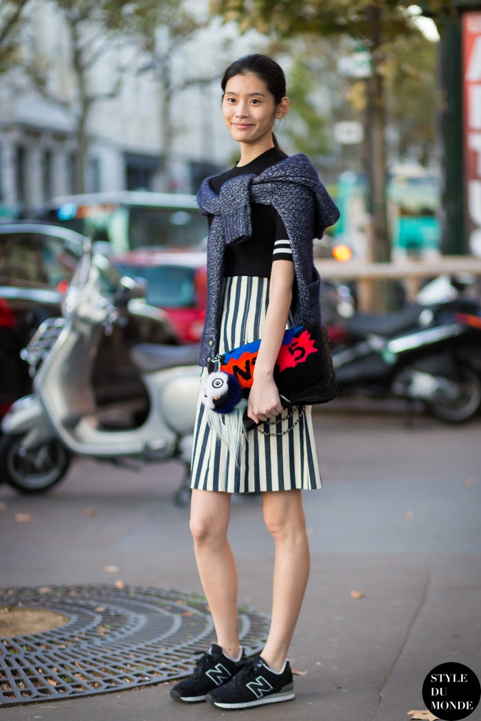 Ming Xi Street Style Street Fashion Streetsnaps by STYLEDUMONDE Street Style Fashion Blog