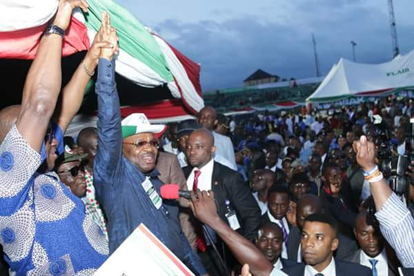 Fayose Declares Udom Winner Of PDP Governorship Primaries In Akwa Ibom (Photos)