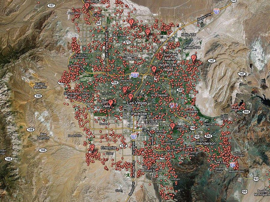 Las Vegas -- 1 in 9 homes in foreclosure