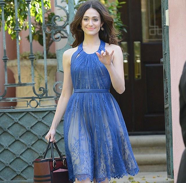 Shameless sex symbol Emmy Rossum keeps it classy in a lacy