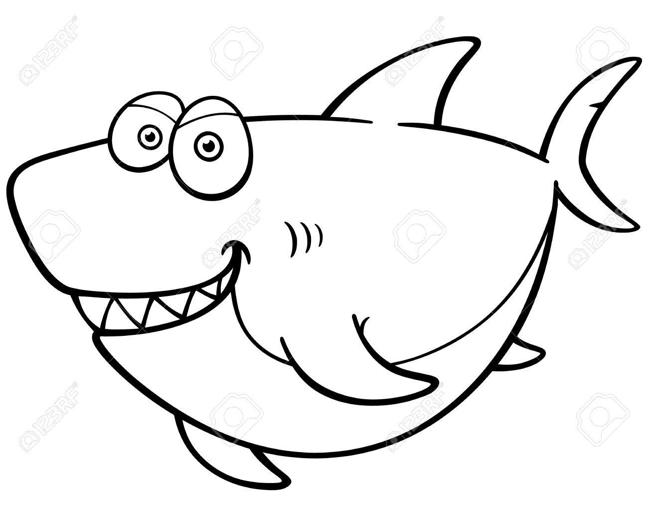 Coloring pages kids: Coloring Sheet Baby Shark Printables