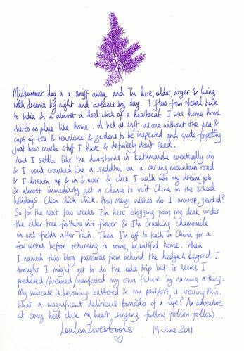 midsummer letter