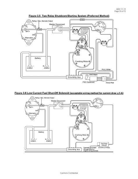 Basic Fuel Shutoff Solenoid and Starter Wiring Information