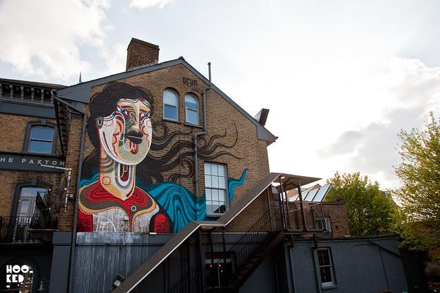Dulwich Street Art Mural by Australian artist REKA