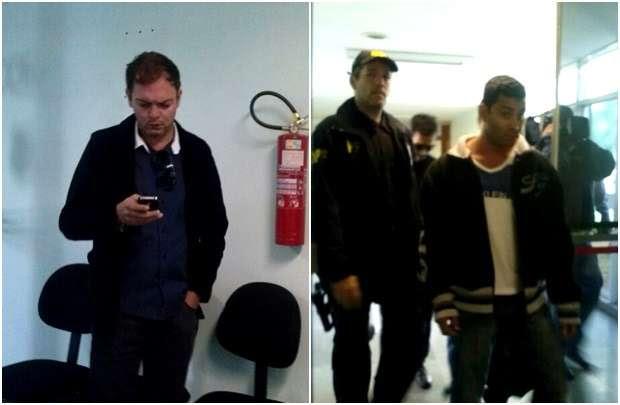 Pimentel (E) foi preso por posse ilegal de arma; Aderbal (D) foi flagrado também por venda de medicamentos proibidos (Mara Puljiz/CB/DA Press)