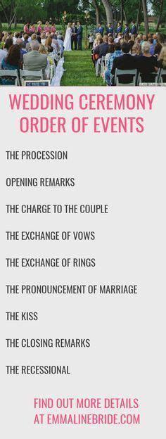 25  best ideas about Wedding ceremony order on Pinterest