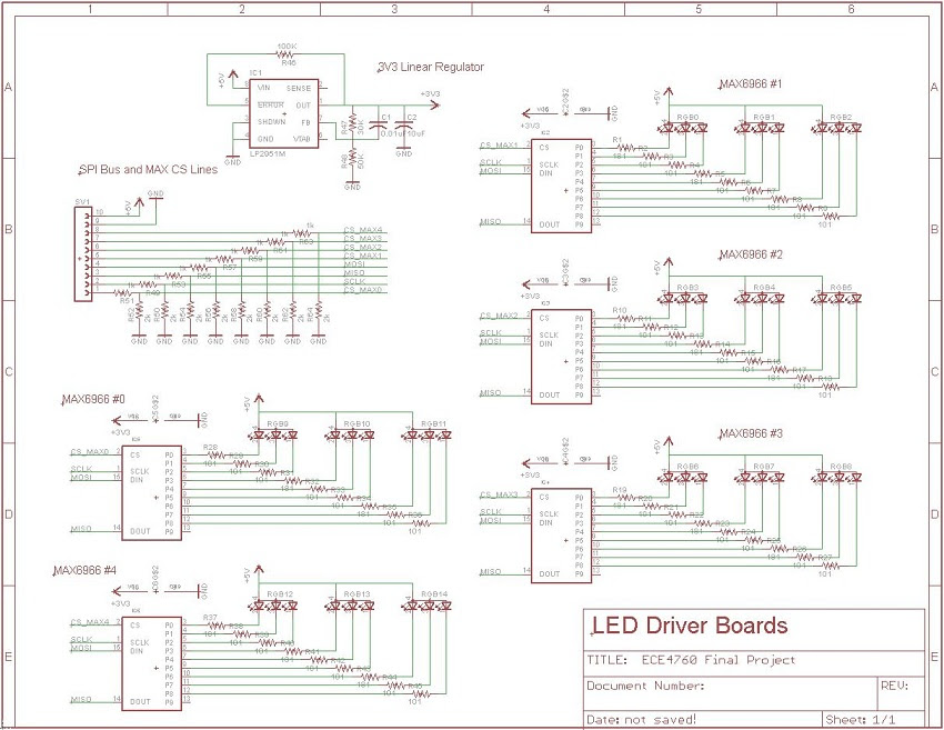 MAX6966 Board Schematic