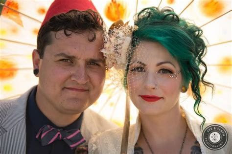 A wild and bright DIY circus themed Canadian wedding