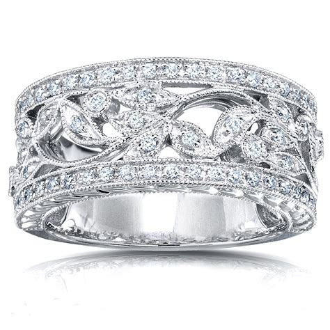 Kobelli 1/4 Carat (ct.tw) Diamond Fashion Floral Band in