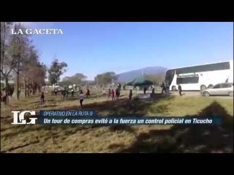 Un tour de compras evitó a la fuerza un control policial en Ticucho