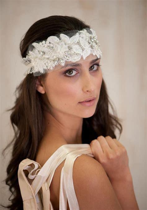 Ivory Bridal Hair Accessories , Headband, Bridal Tiara