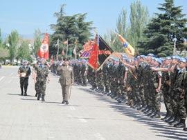 Despedida del XIV contingente español que parte a el Líbano.