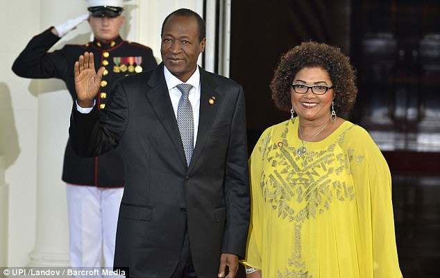President Blaise Compaore (With First Lady Chantal Compaore) of Burkina Faso seized power in a bloody coup