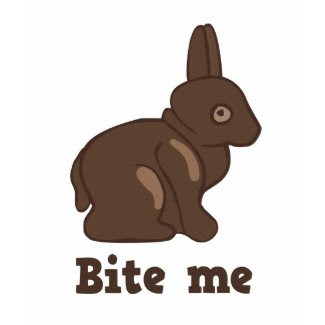 Bite me chocolate bunny t-shirt shirt