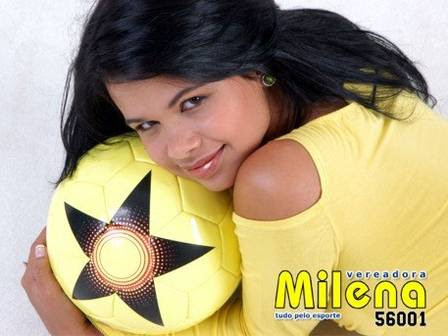 Milena Teixeira: Milena tudo pelo esporte era slogan