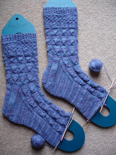Mystery sock KAL foot WIP