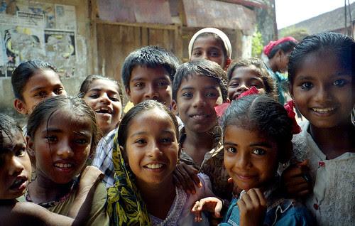 friendly kids in Cochin, India