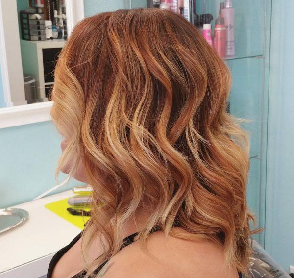 Hellen Strähnchen Auf Verschiedenen Haarfarben